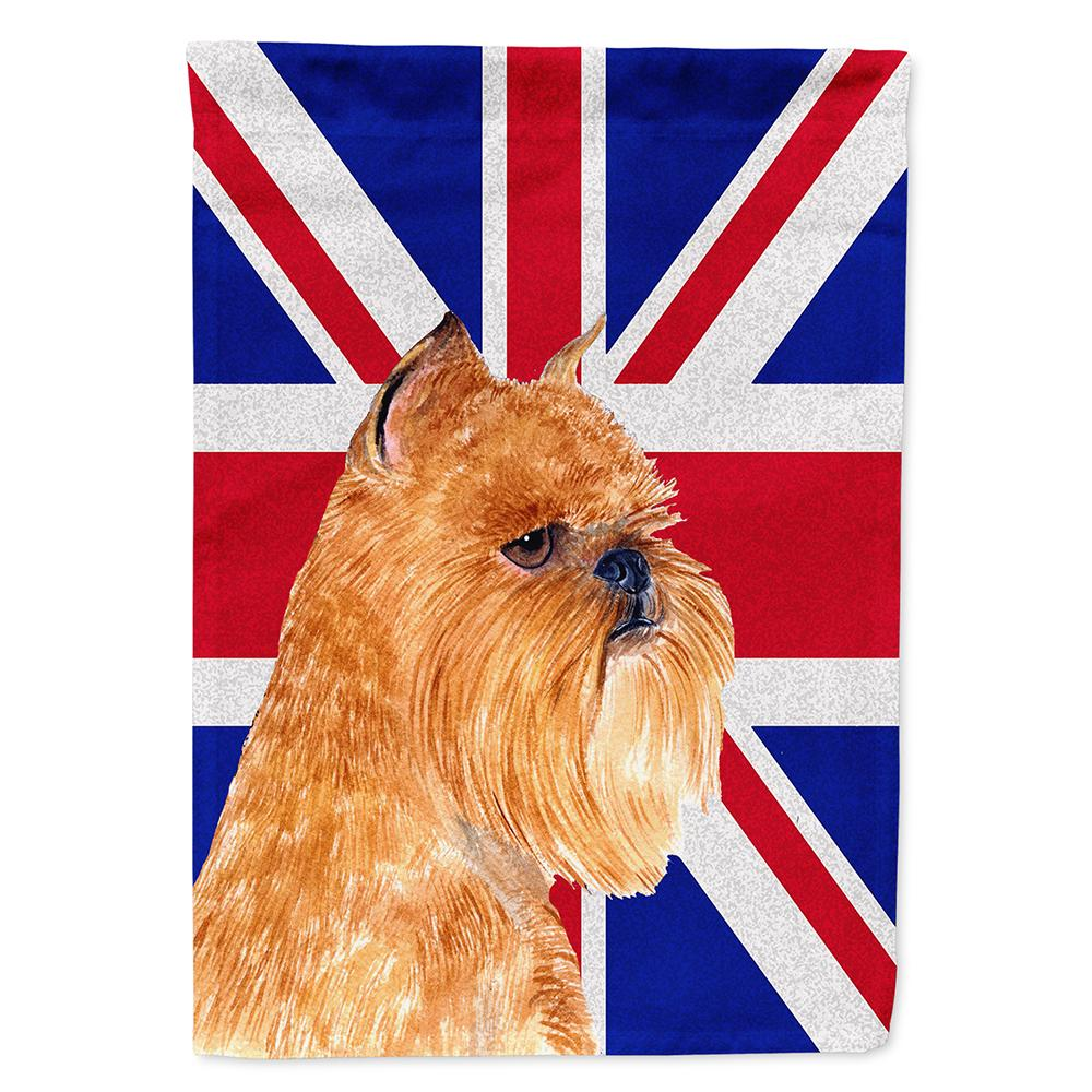 Buy this Brussels Griffon with English Union Jack British Flag Flag Garden Size