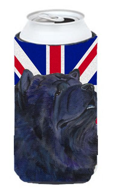 Chow Chow with English Union Jack British Flag Tall Boy Beverage Insulator Hugger SS4943TBC by Caroline's Treasures