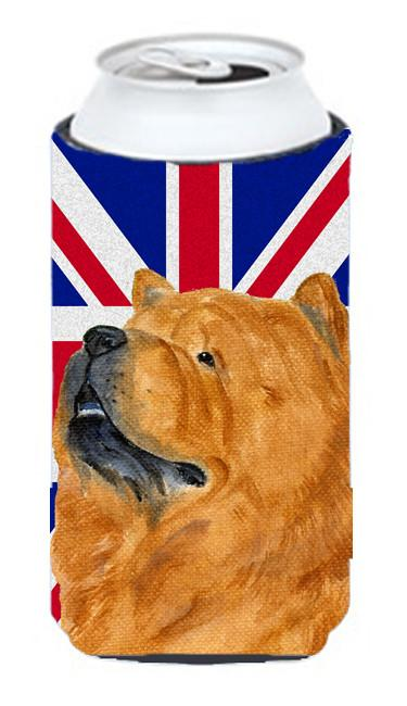 Chow Chow with English Union Jack British Flag Tall Boy Beverage Insulator Hugger SS4944TBC by Caroline's Treasures
