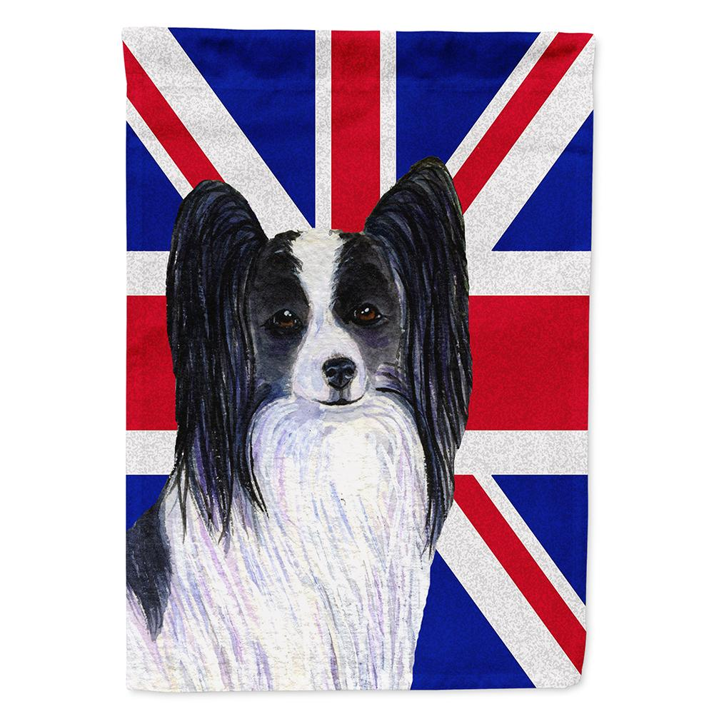 Buy this Papillon with English Union Jack British Flag Flag Garden Size