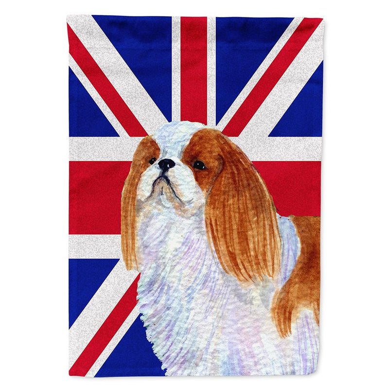 Buy this English Toy Spaniel with English Union Jack British Flag Flag Garden Size