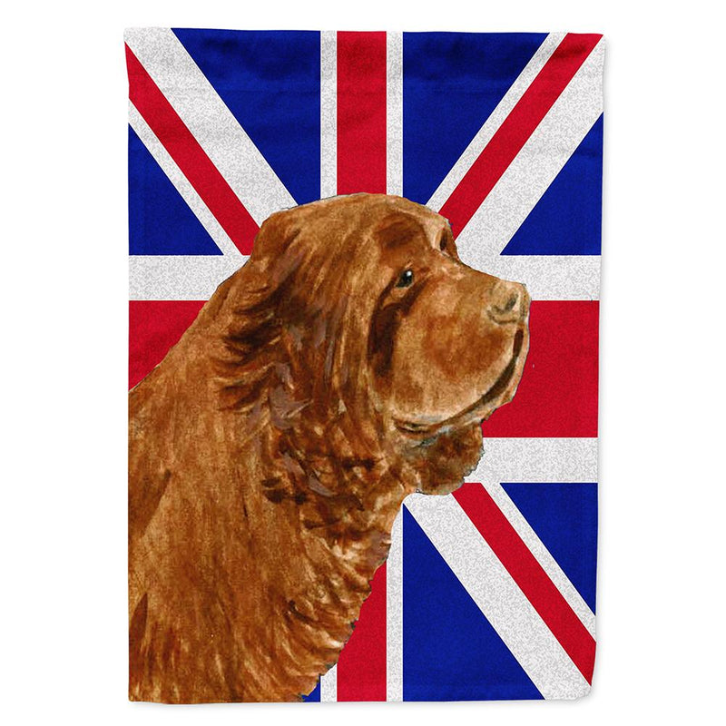 Buy this Sussex Spaniel with English Union Jack British Flag Flag Garden Size