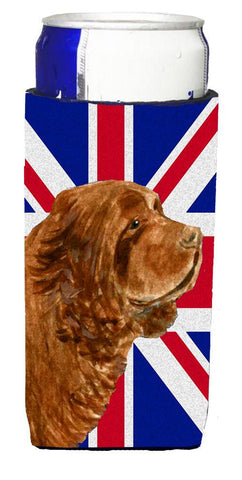 Buy this Sussex Spaniel with English Union Jack British Flag Ultra Beverage Insulators for slim cans SS4952MUK