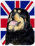 Buy this Tibetan Spaniel with English Union Jack British Flag Glass Cutting Board Large Size SS4954LCB