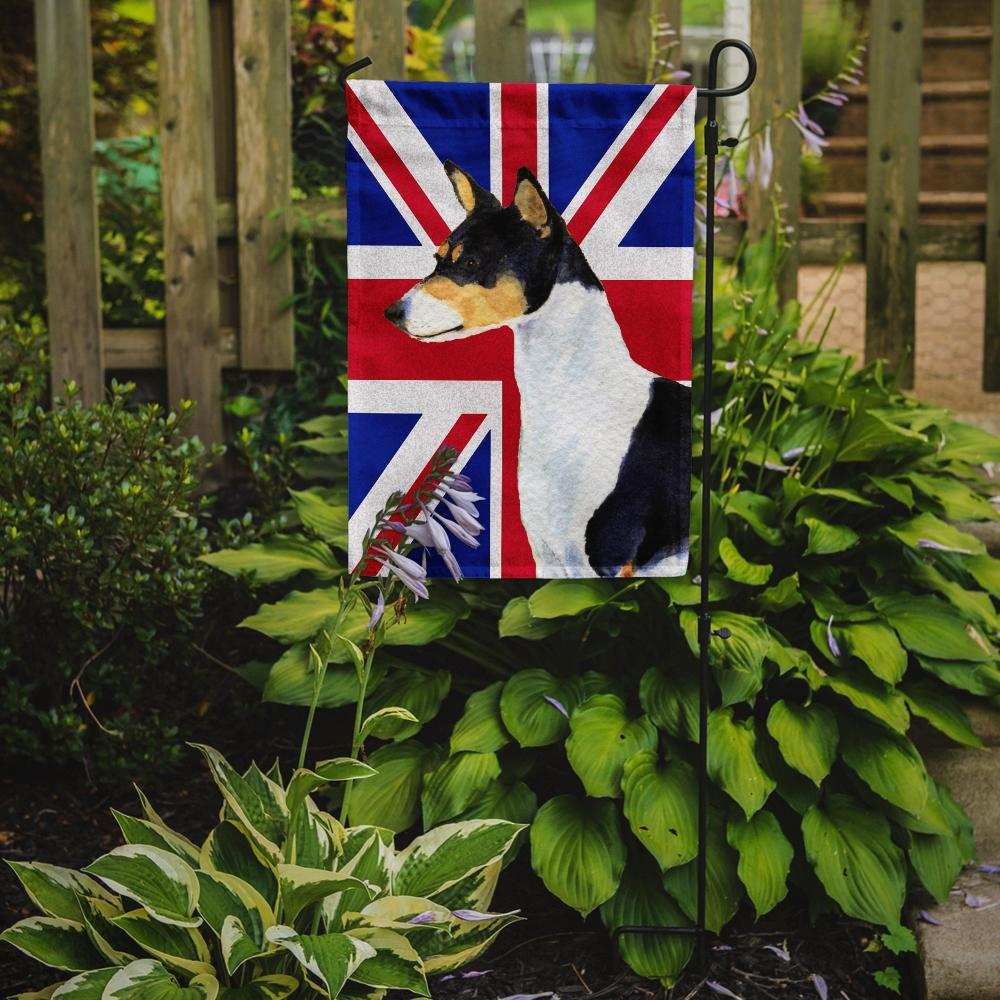 Basenji with English Union Jack British Flag Flag Garden Size SS4956GF by Caroline's Treasures