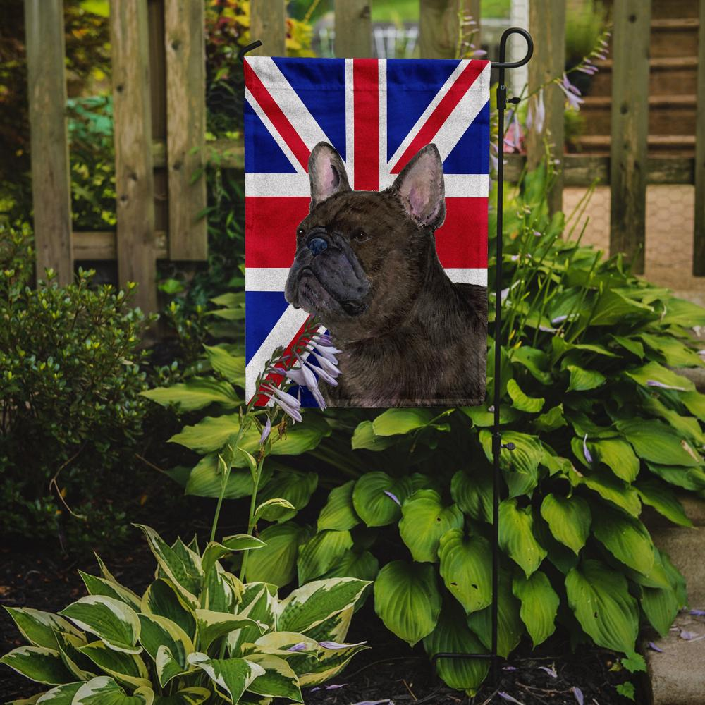 French Bulldog with English Union Jack British Flag Flag Garden Size SS4961GF by Caroline's Treasures