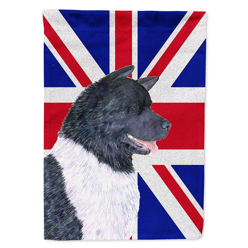 Buy this Akita with English Union Jack British Flag Flag Garden Size