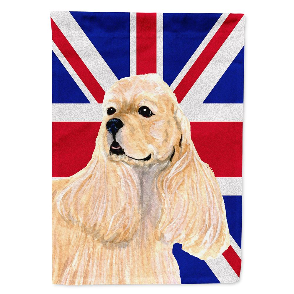 Buy this Cocker Spaniel Buff with English Union Jack British Flag Flag Garden Size
