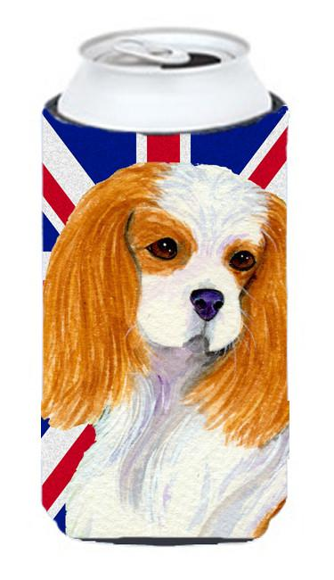 Cavalier Spaniel with English Union Jack British Flag Tall Boy Beverage Insulator Hugger SS4969TBC by Caroline's Treasures