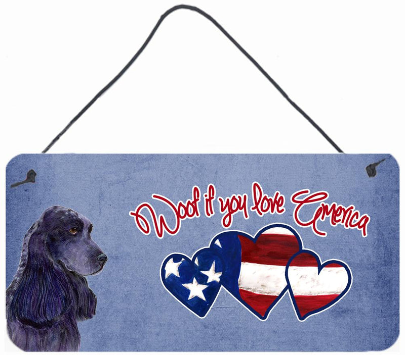 Buy this Woof if you love America Black Cocker Spaniel Wall or Door Hanging Prints