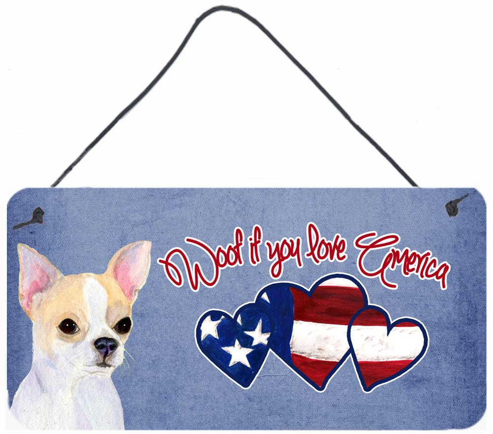 Buy this Woof if you love America Chihuahua Wall or Door Hanging Prints SS4986DS612