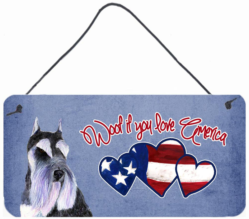 Buy this Woof if you love America Schnauzer Wall or Door Hanging Prints SS4989DS612