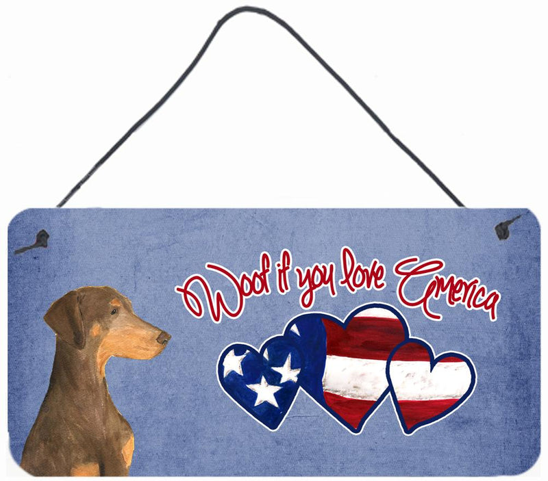 Buy this Woof if you love America Doberman Wall or Door Hanging Prints SS4991DS612
