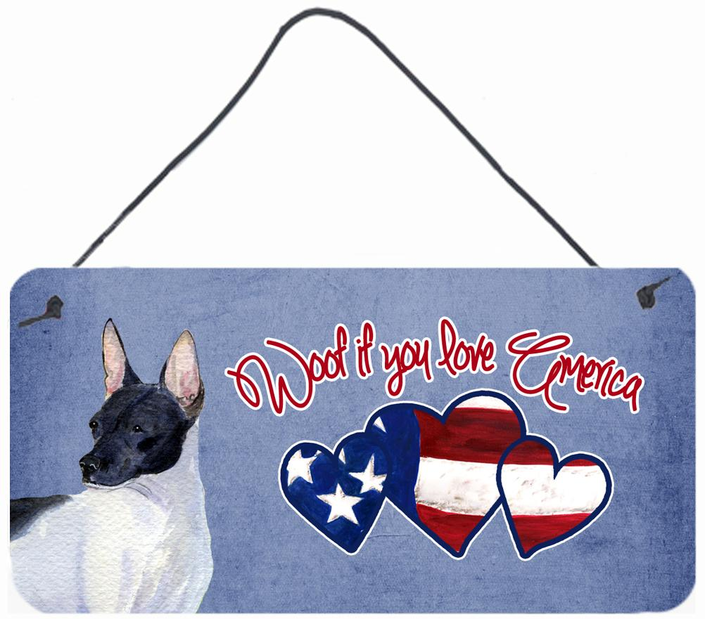 Buy this Woof if you love America Rat Terrier Wall or Door Hanging Prints SS4992DS612