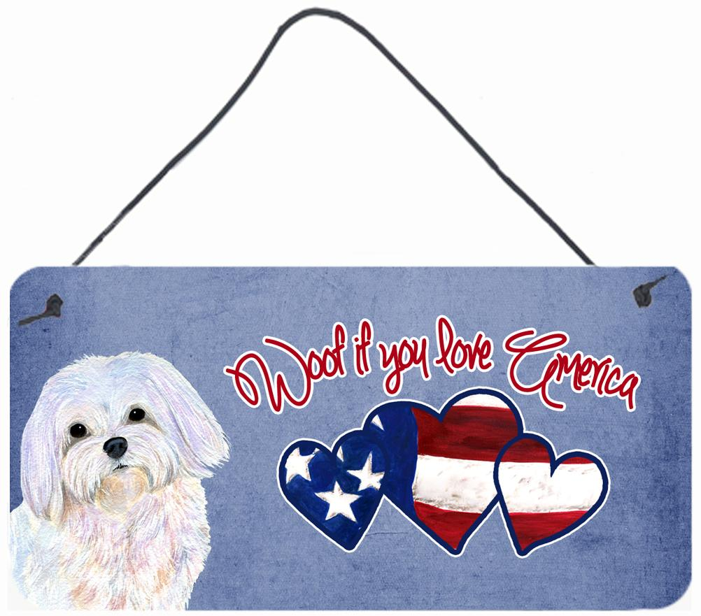 Buy this Woof if you love America Maltese Wall or Door Hanging Prints SS4994DS612