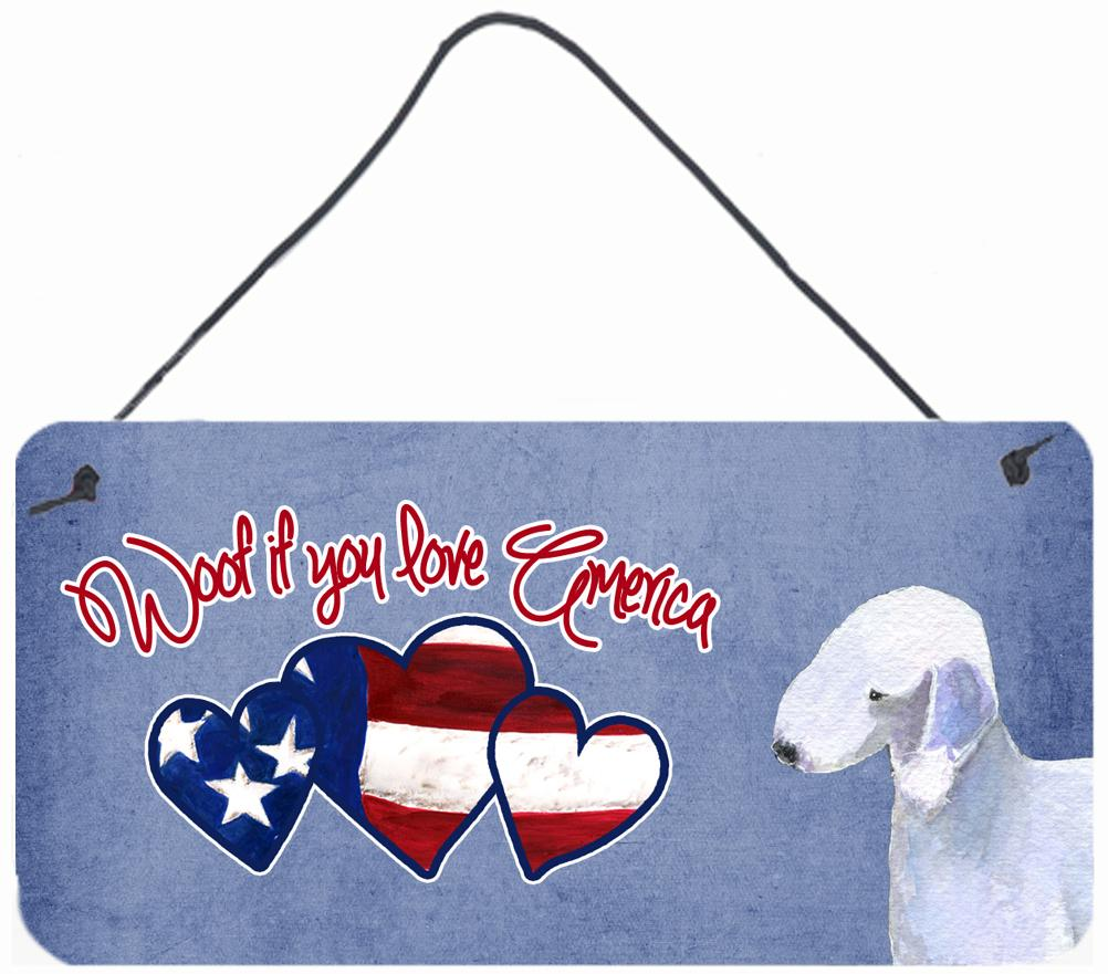 Buy this Woof if you love America Bedlington Terrier Wall or Door Hanging Prints