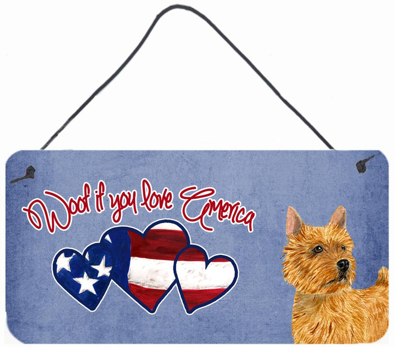 Buy this Woof if you love America Norwich Terrier Wall or Door Hanging Prints SS5010DS612
