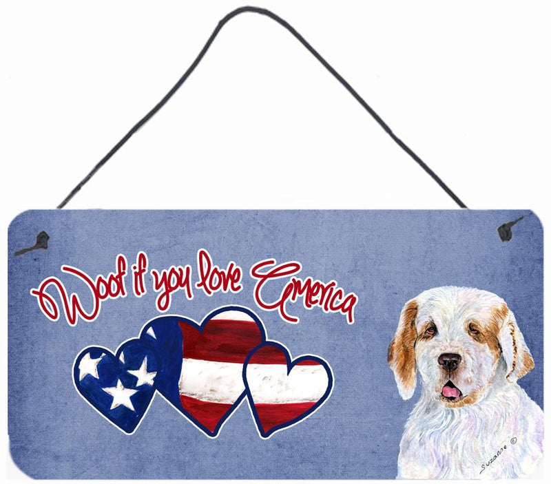 Buy this Woof if you love America Clumber Spaniel Wall or Door Hanging Prints SS5011DS612