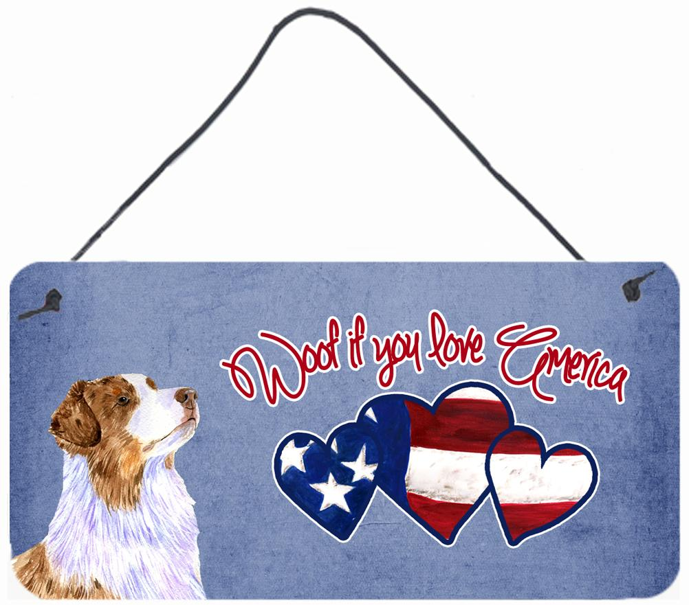 Buy this Woof if you love America Australian Shepherd Wall or Door Hanging Prints