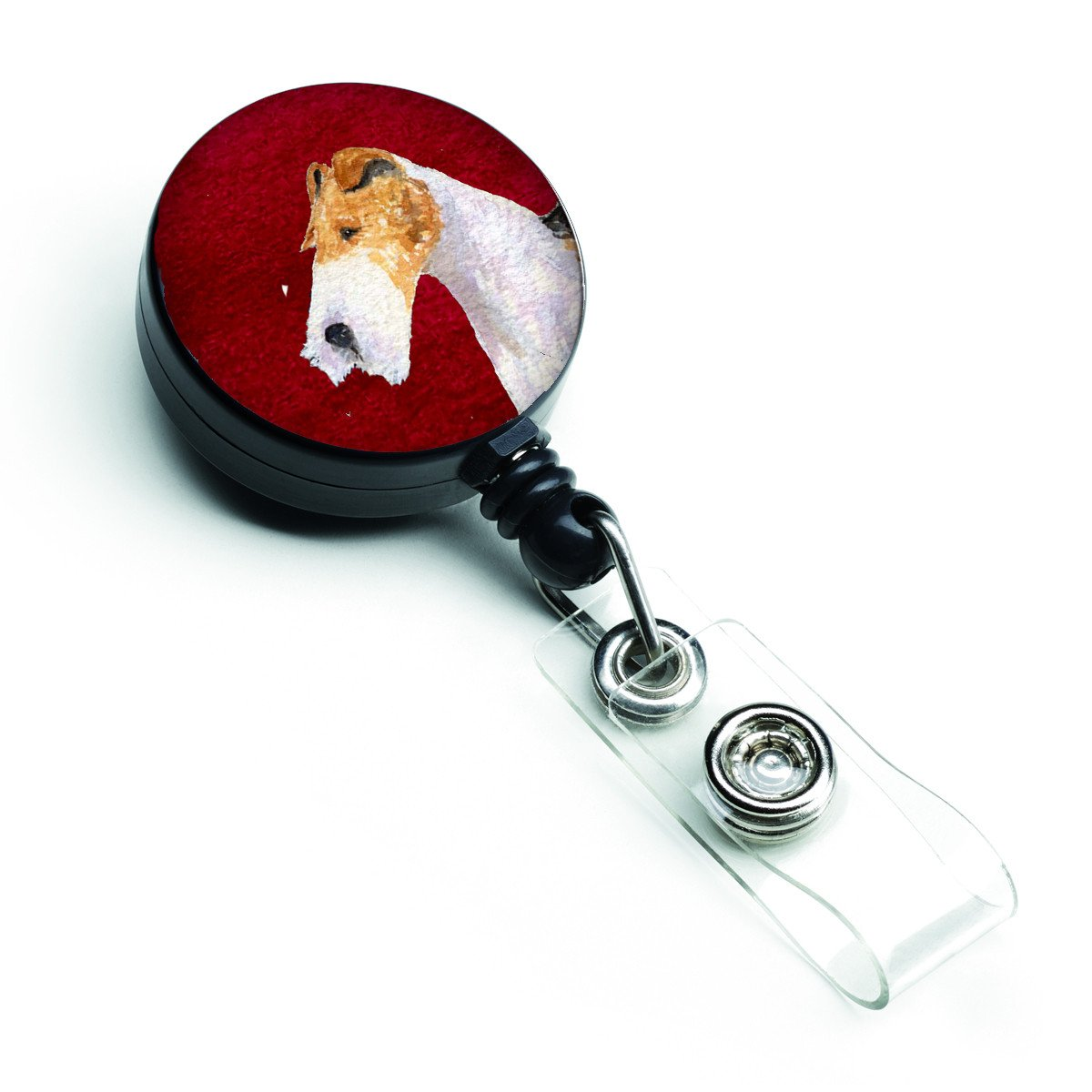 Fox Terrier Retractable Badge Reel or ID Holder with Clip by Caroline's Treasures