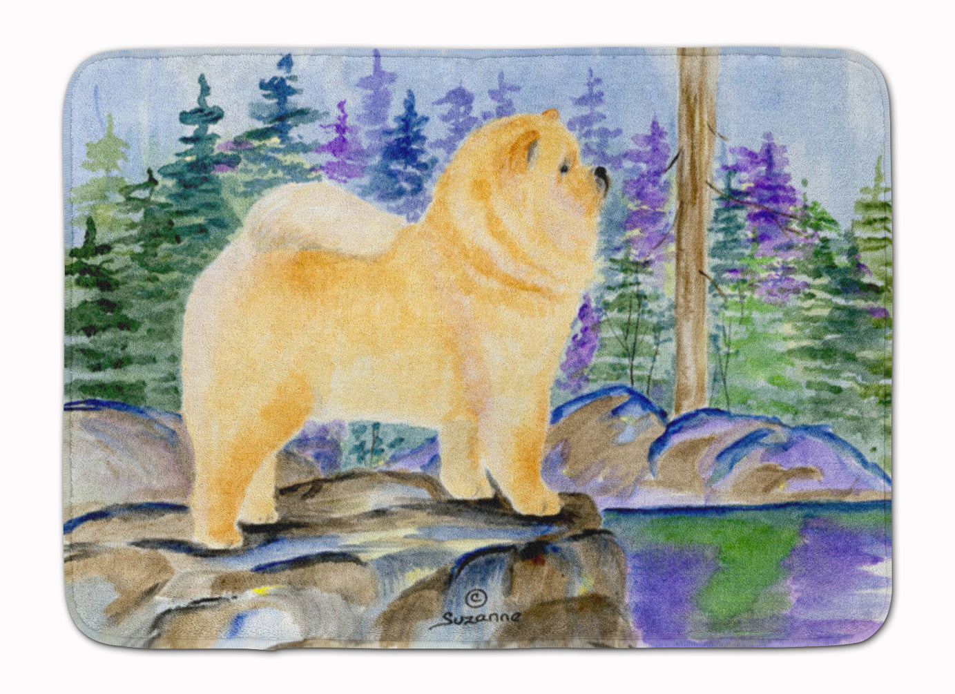 Chow Chow Machine Washable Memory Foam Mat SS8003RUG by Caroline's Treasures