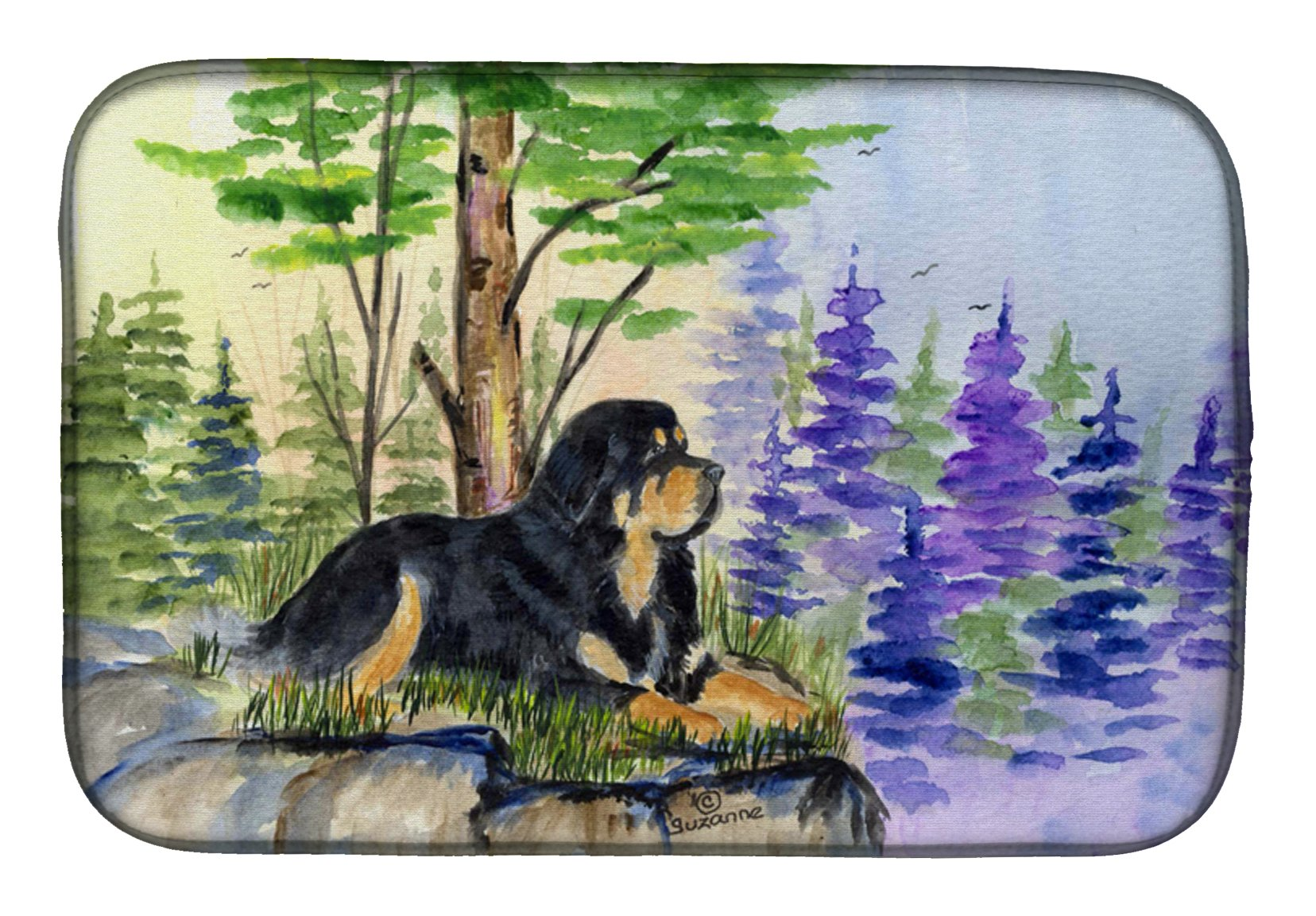 Tibetan Mastiff Dish Drying Mat SS8007DDM by Caroline's Treasures