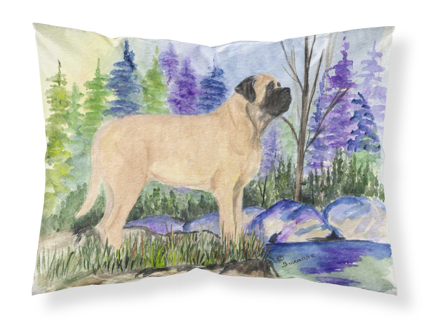 Mastiff Moisture wicking Fabric standard pillowcase by Caroline's Treasures