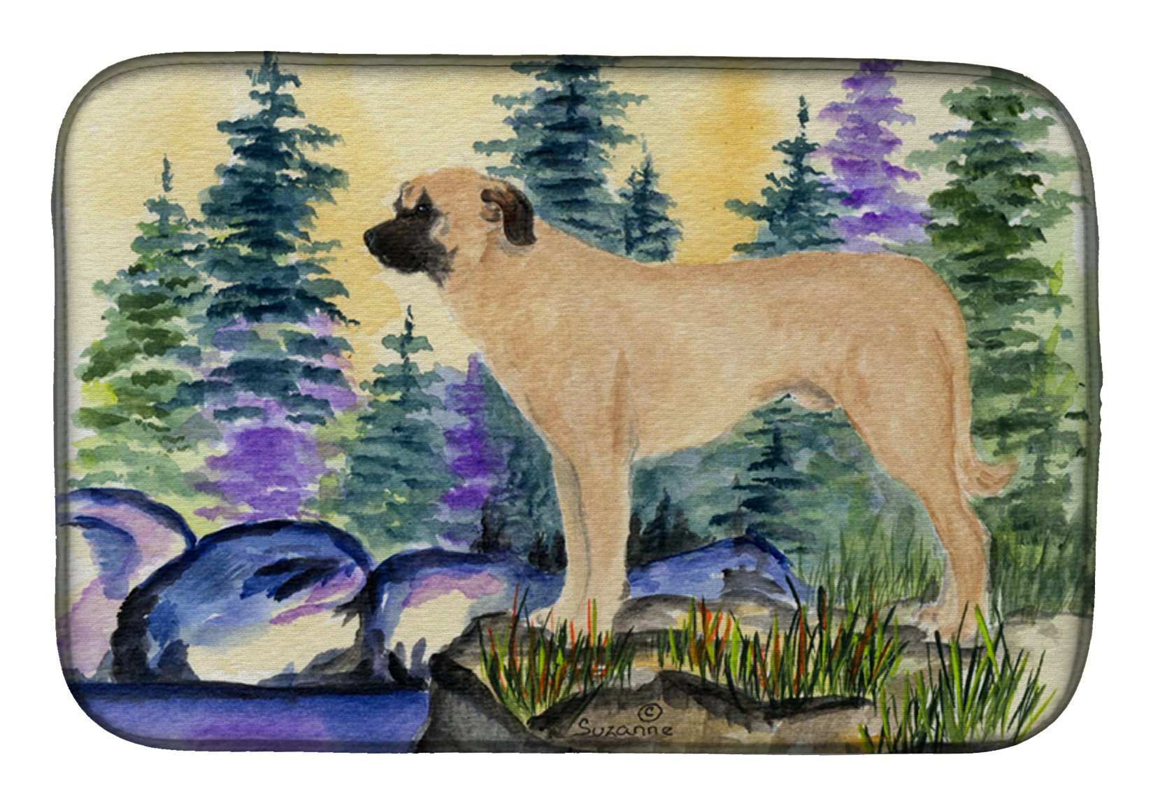 Anatolian Shepherd Dish Drying Mat SS8012DDM by Caroline's Treasures