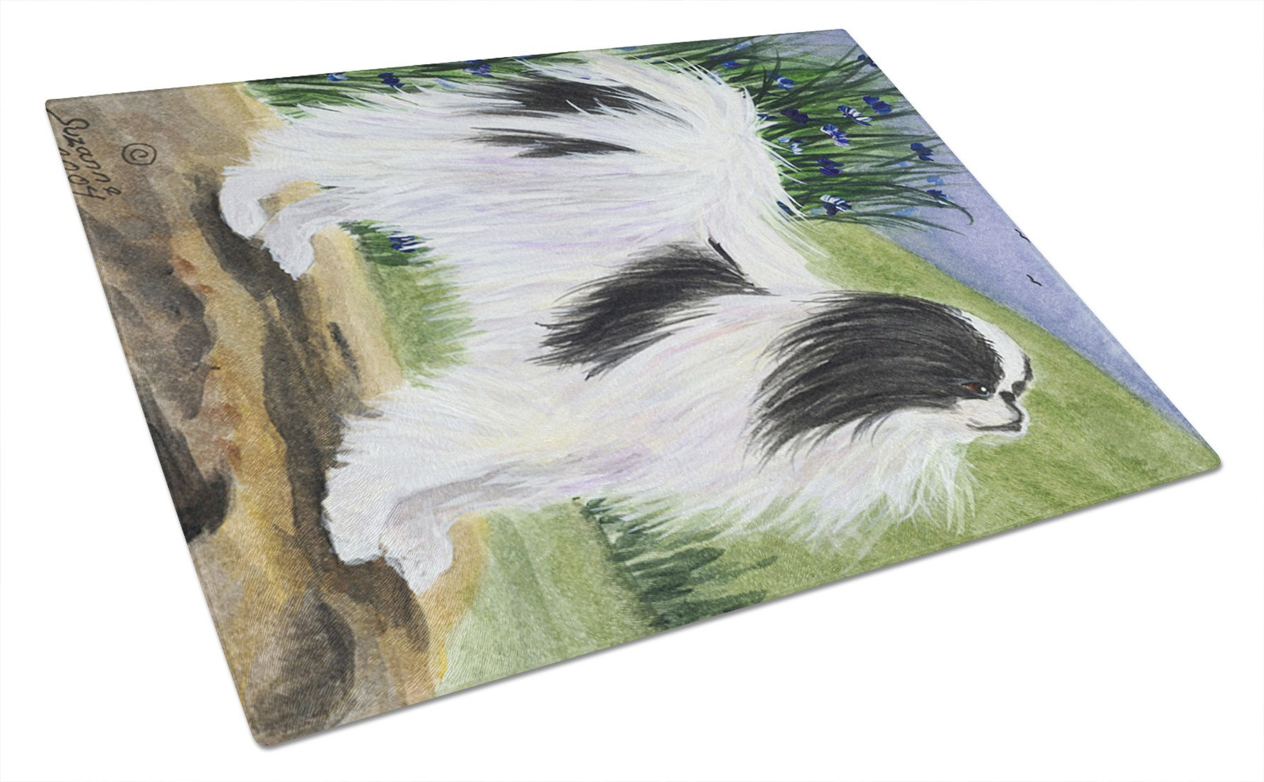 Japanese Chin Glass Cutting Board Large by Caroline's Treasures