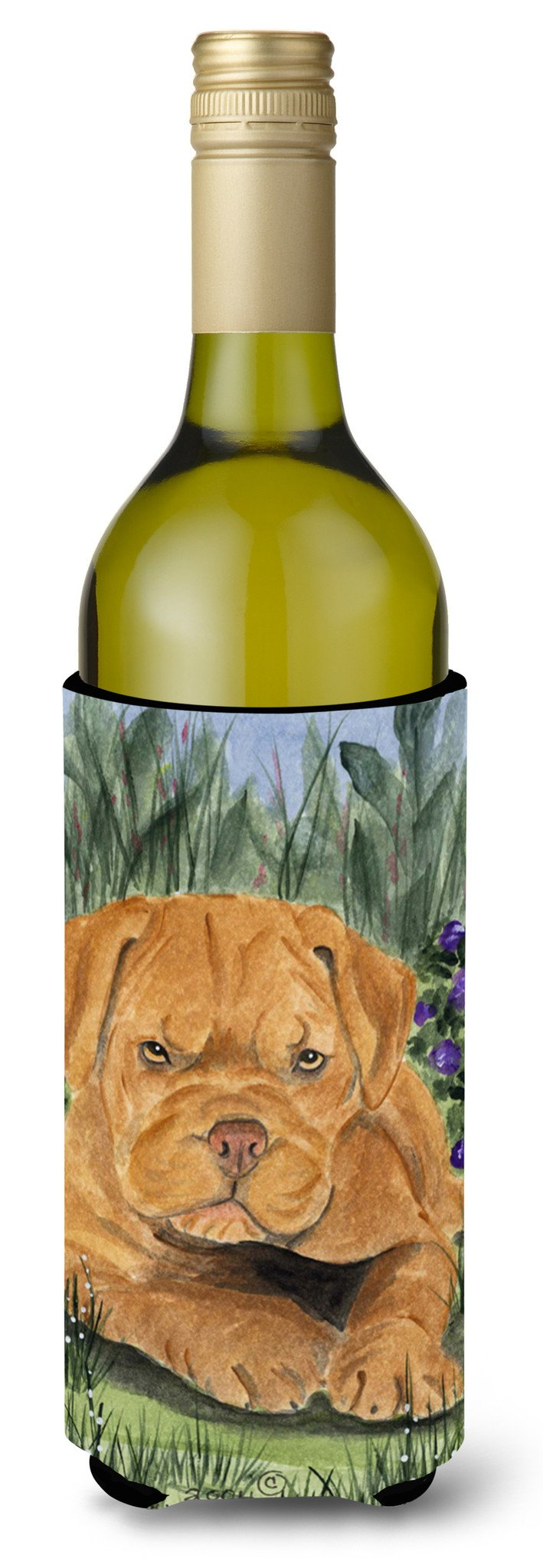 Dogue de Bordeaux Wine Bottle Beverage Insulator Beverage Insulator Hugger SS8032LITERK by Caroline's Treasures
