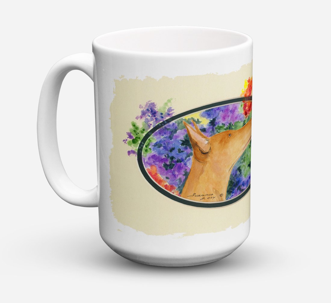 Pharaoh Hound Dishwasher Safe Microwavable Ceramic Coffee Mug 15 ounce SS8041CM15 by Caroline's Treasures