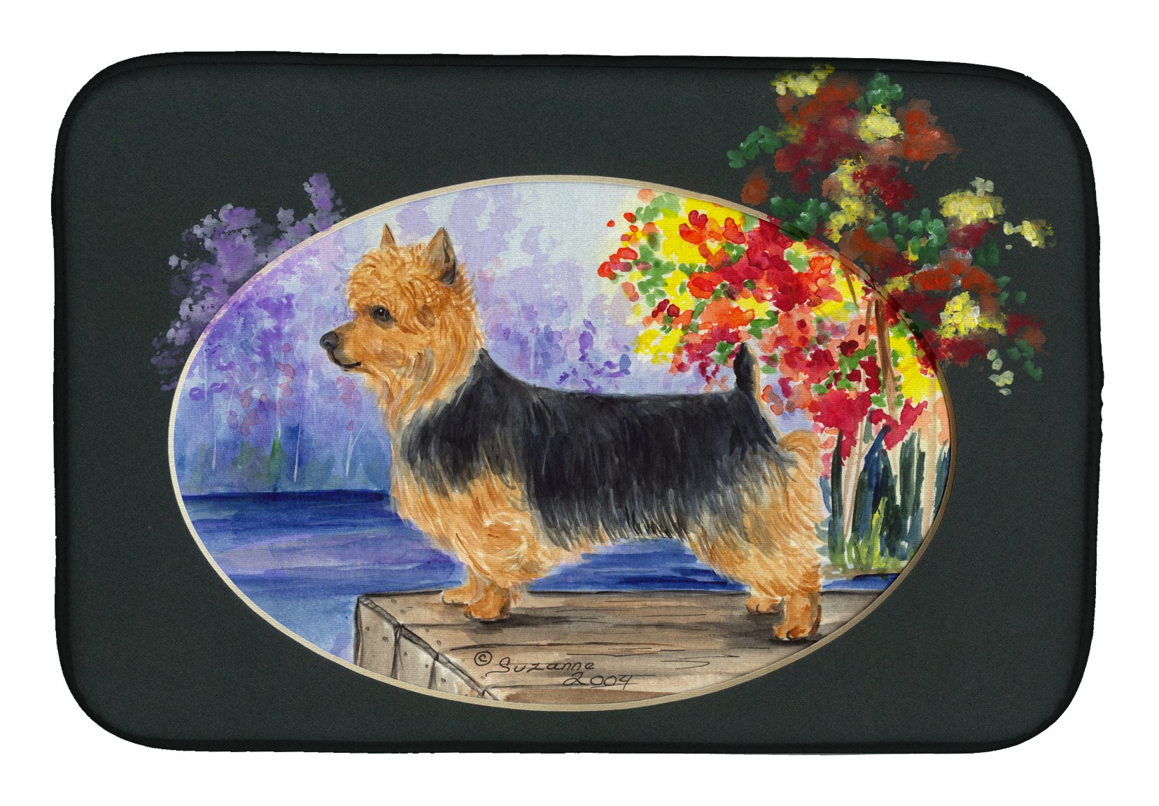 Australian Terrier Dish Drying Mat SS8046DDM by Caroline's Treasures