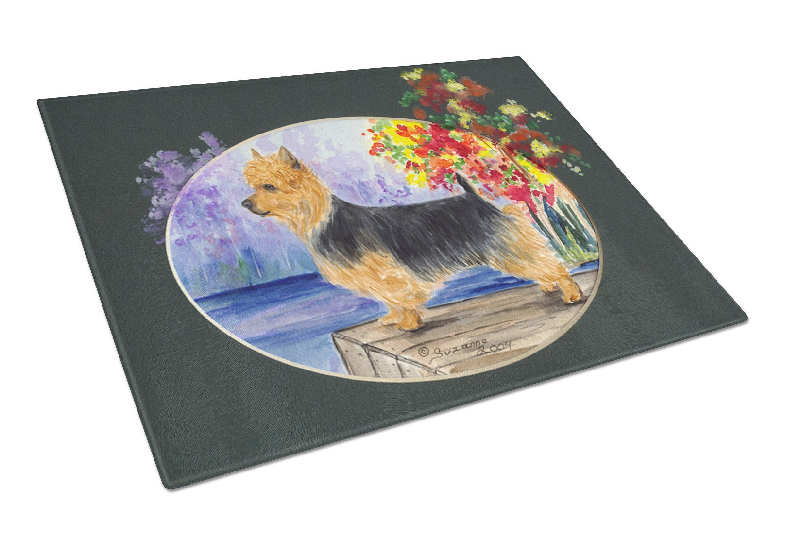 Australian Terrier Glass Cutting Board Large by Caroline's Treasures