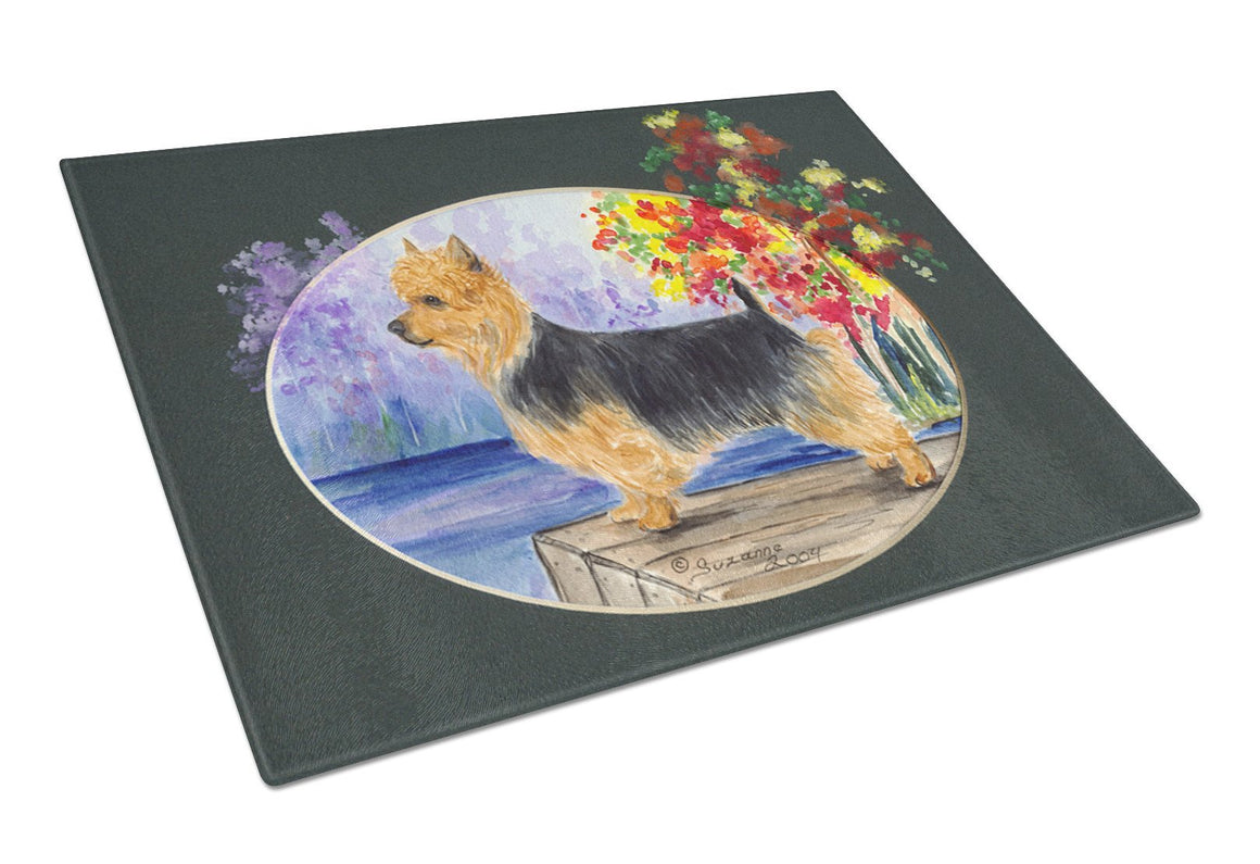 Australian Terrier Glass Cutting Board Large - the-store.com