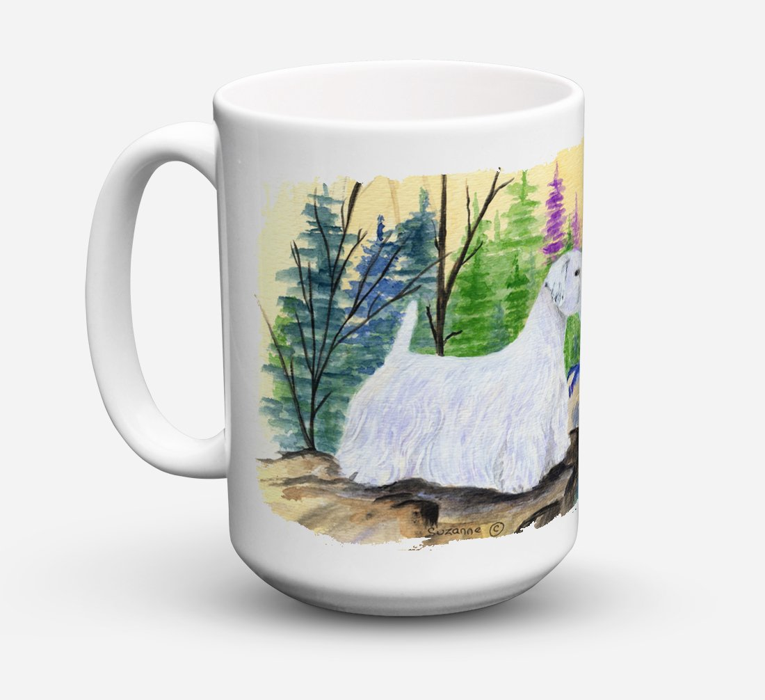 Sealyham Terrier Dishwasher Safe Microwavable Ceramic Coffee Mug 15 ounce SS8104CM15 by Caroline's Treasures