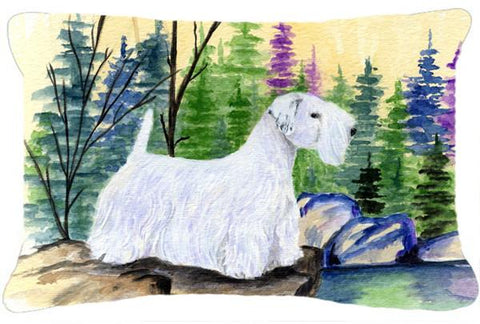 Buy this Sealyham Terrier Decorative   Canvas Fabric Pillow