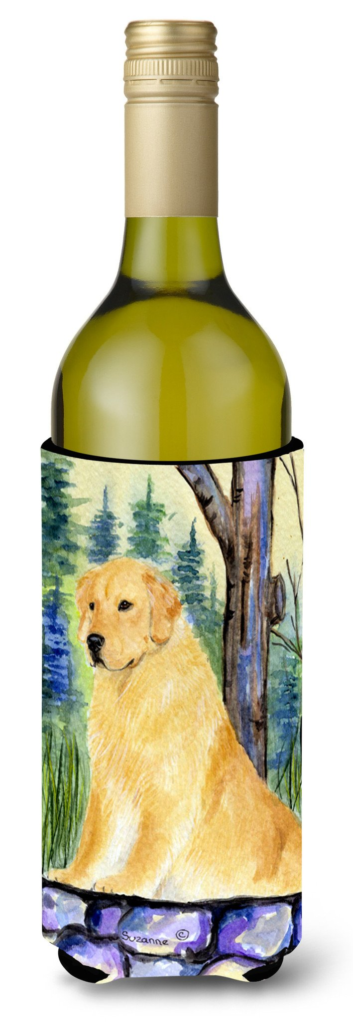 Buy this Golden Retriever Wine Bottle Beverage Insulator Beverage Insulator Hugger SS8111LITERK