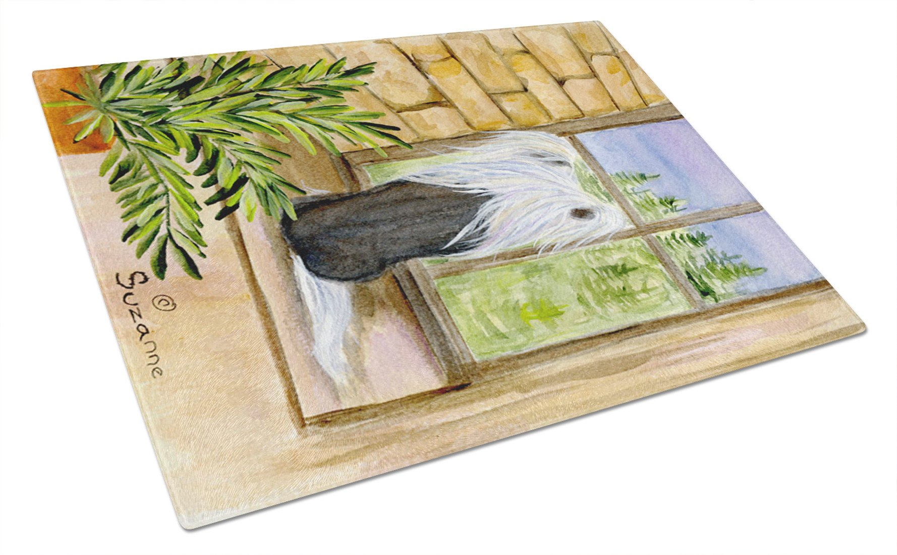 Chinese Crested Glass Cutting Board Large by Caroline's Treasures