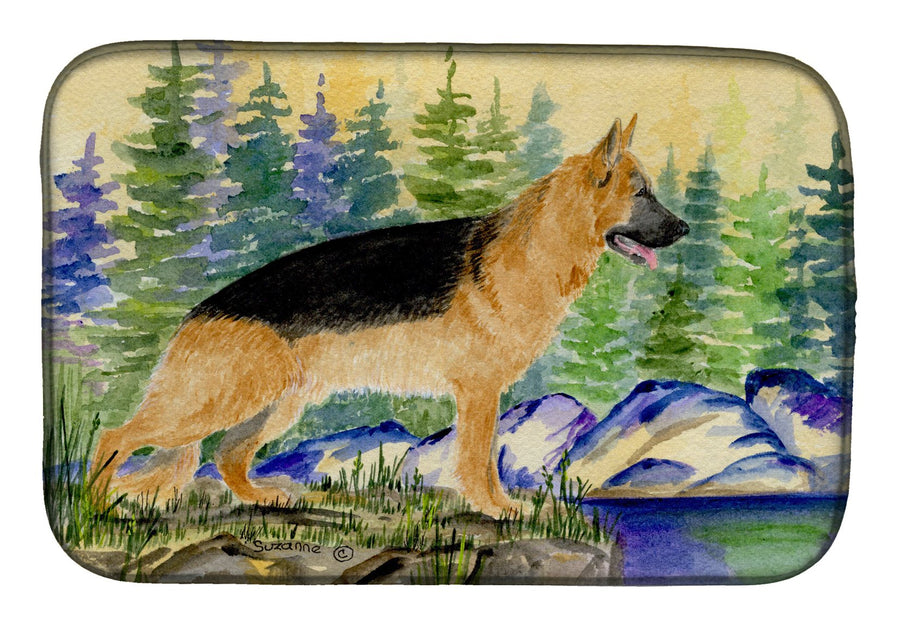 Buy this German Shepherd Dish Drying Mat SS8129DDM