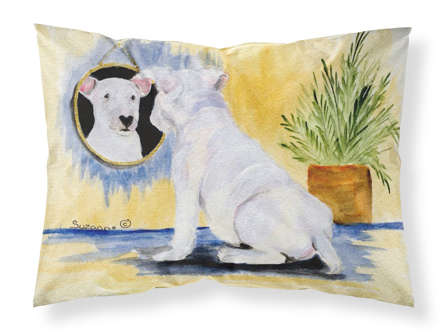 Bull Terrier Moisture wicking Fabric standard pillowcase by Caroline's Treasures