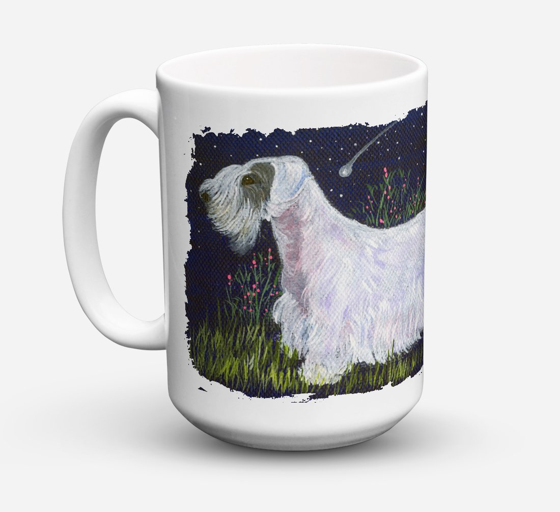 Sealyham Terrier Dishwasher Safe Microwavable Ceramic Coffee Mug 15 ounce SS8145CM15 by Caroline's Treasures