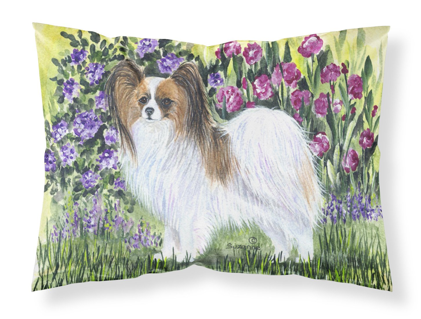 Papillon Moisture wicking Fabric standard pillowcase by Caroline's Treasures