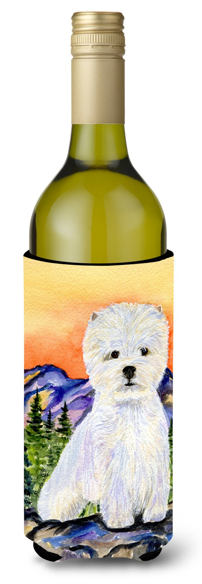 Westie Wine Bottle Beverage Insulator Beverage Insulator Hugger SS8159LITERK by Caroline's Treasures