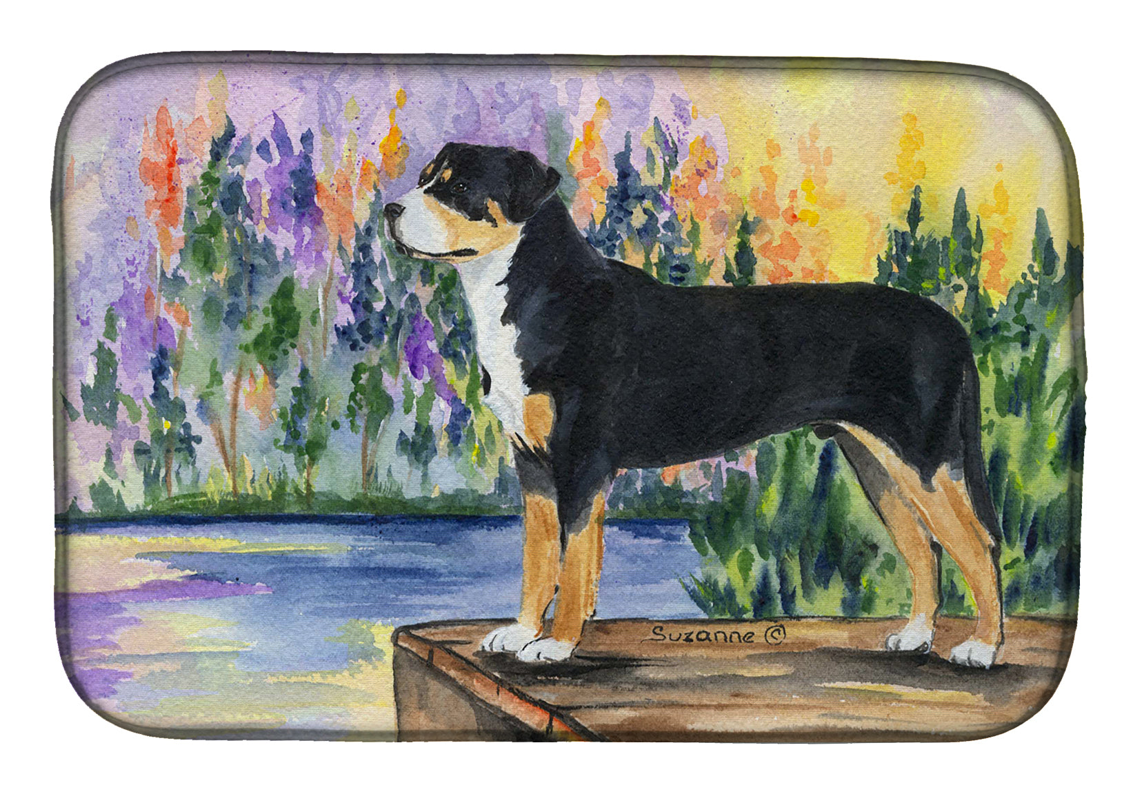 Greater Swiss Mountain Dog Dish Drying Mat SS8160DDM by Caroline's Treasures