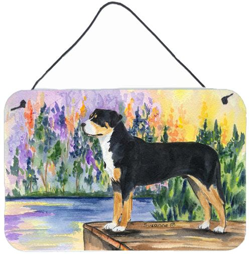 Greater Swiss Mountain Dog Indoor Aluminium Metal Wall or Door Hanging Prints by Caroline's Treasures