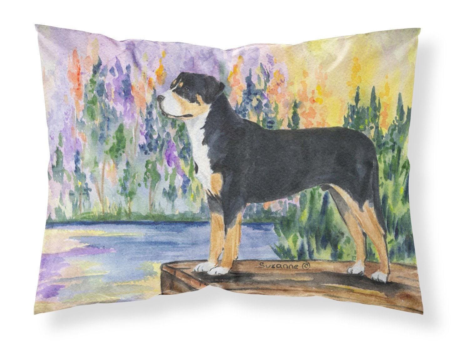 Greater Swiss Mountain Dog Moisture wicking Fabric standard pillowcase by Caroline's Treasures