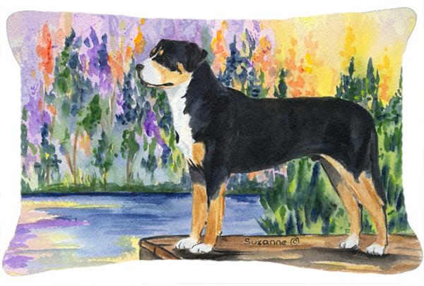 Greater Swiss Mountain Dog Decorative   Canvas Fabric Pillow by Caroline's Treasures