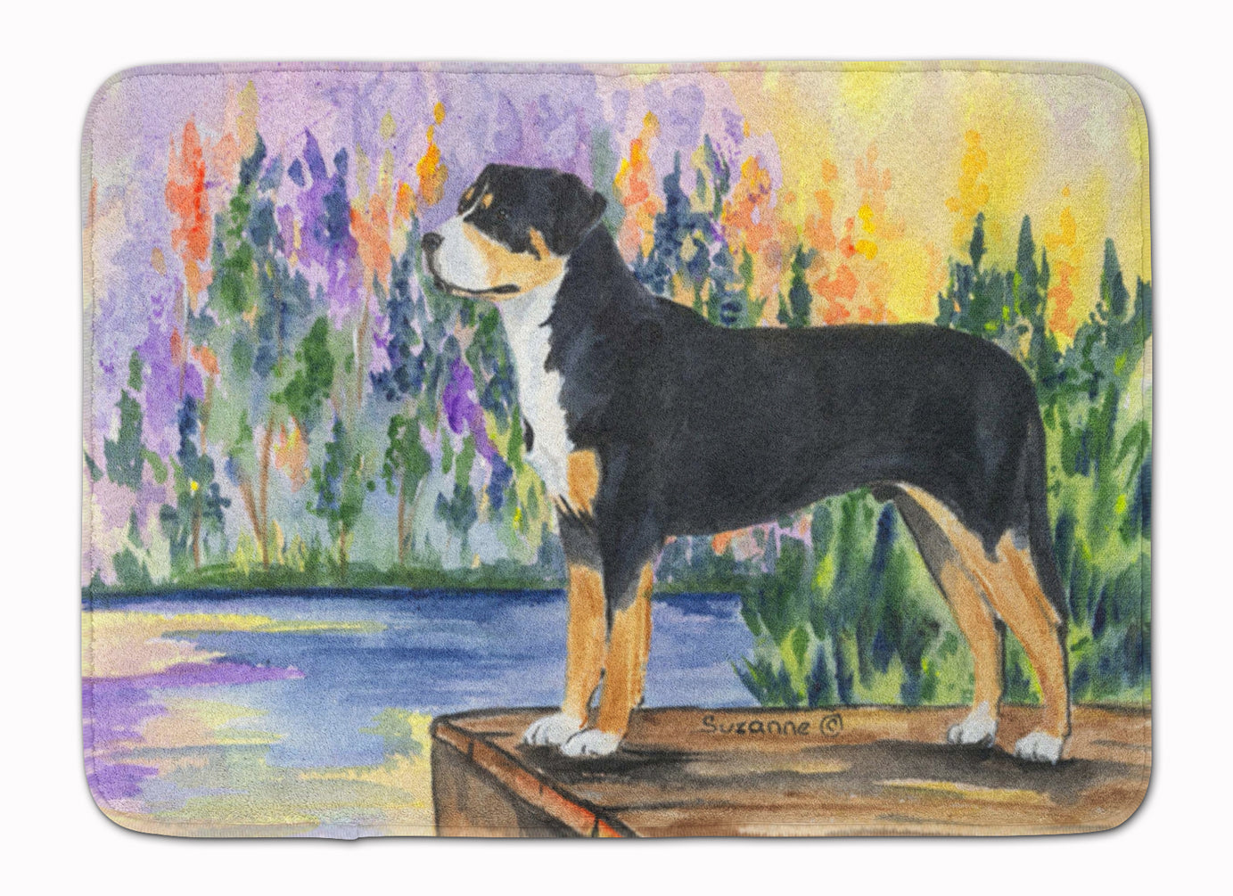 Greater Swiss Mountain Dog Machine Washable Memory Foam Mat SS8160RUG by Caroline's Treasures