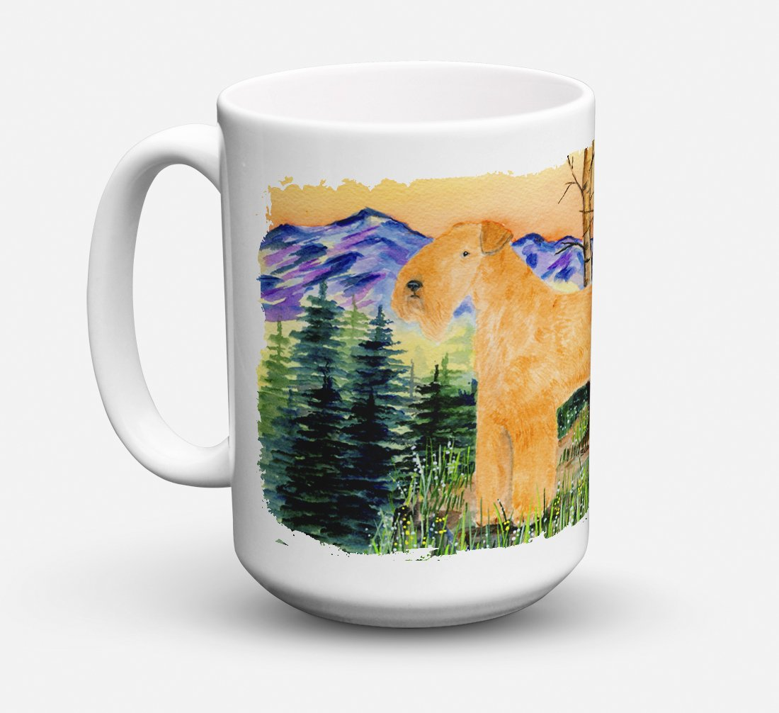 Lakeland Terrier Dishwasher Safe Microwavable Ceramic Coffee Mug 15 ounce SS8168CM15 by Caroline's Treasures