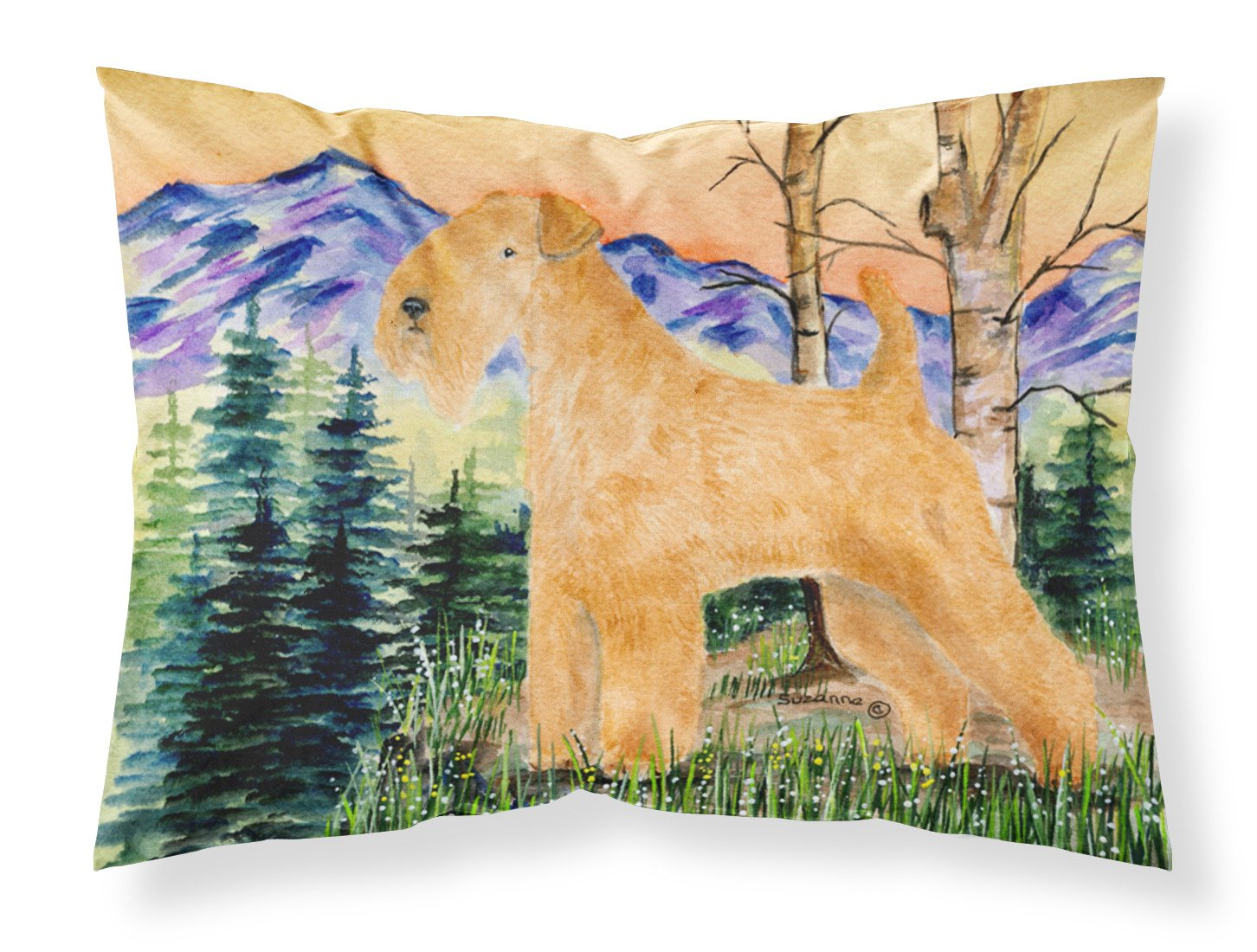 Lakeland Terrier Moisture wicking Fabric standard pillowcase by Caroline's Treasures